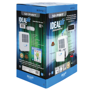 Ideal-Air - Dehumidifier 30 Pint - Up to 50 Pints Per Day