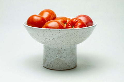 Pedestal Bowl - White