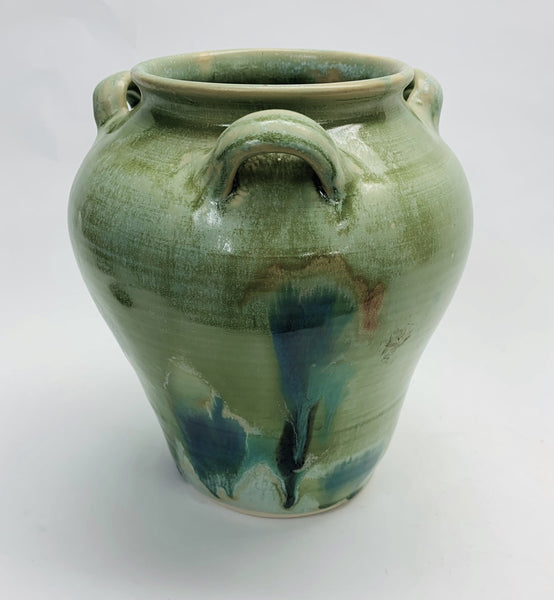 Tea Jar Sage Splash Glaze