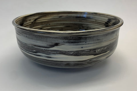 White  & Black Swirl Fruit Bowl