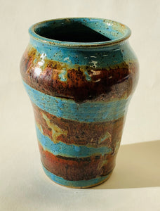 Barbershop Vase - Turquoise & Ancient Red