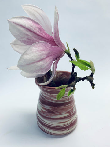 Bud Vase Strawberry Swirl