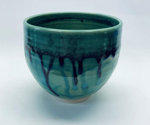 "Tall Bowl ""Ocean"" Glaze"