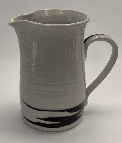 White with Black Pitcher