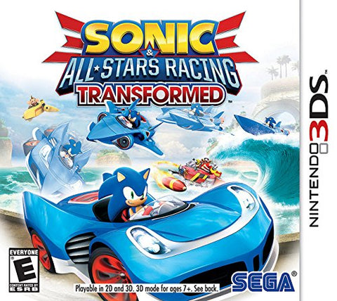 Sonic & All Stars Racing Transformed 3DS New