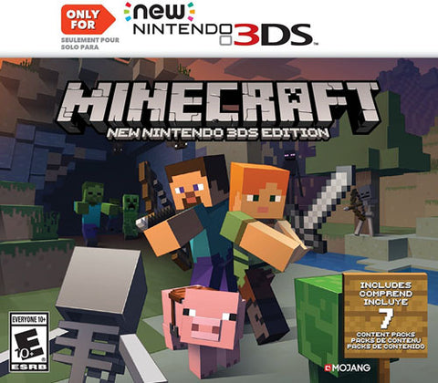 Minecraft New 3DS Required 3DS Used Cartridge Only