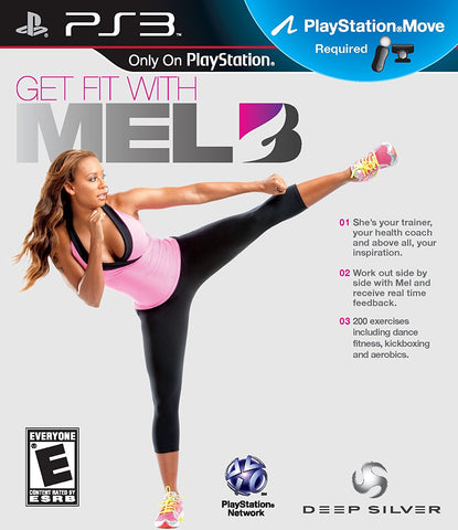 Get Fit with Mel B Move Required PS3 Used