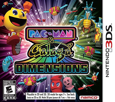 Pacman And Galaga Dimensions 3DS Used