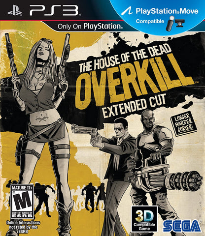 House Of The Dead Overkill Extended Cut PS3 Used