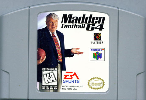 Madden N64 Used Cartridge Only