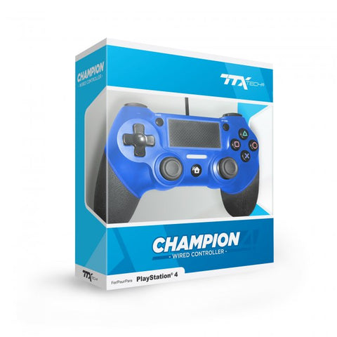 PS4 Controller Wired Ttx Champion Blue New