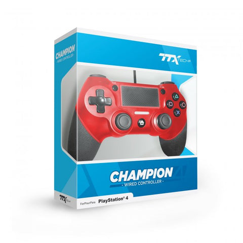 PS4 Controller Wired Ttx Champion Red New