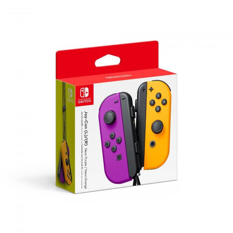 Switch Controller Wireless Nintendo Joy Con L R Neon Purple Neon Orange Set New