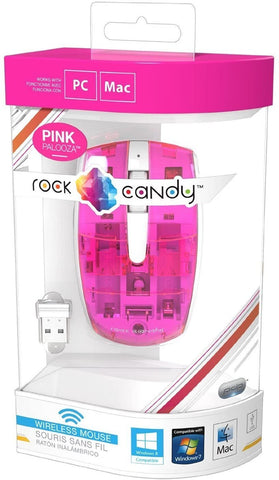 PC Mouse Wired USB Pink Transparent Rock Candy New