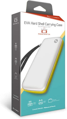 Switch Lite Carry Case Hyperkin Yellow & White Hard Shell New