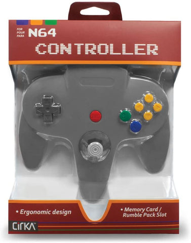 N64 Controller Cirka Grey New