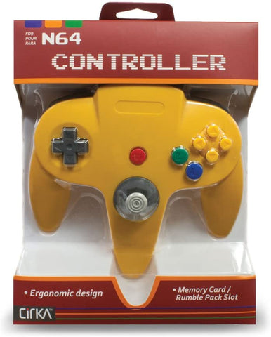 N64 Controller Cirka Yellow New