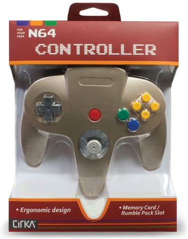 N64 Controller Cirka Gold New