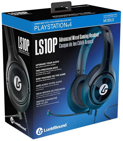 PS4 Headset Wired Lucid Sound LS10P Advanced Gaming New