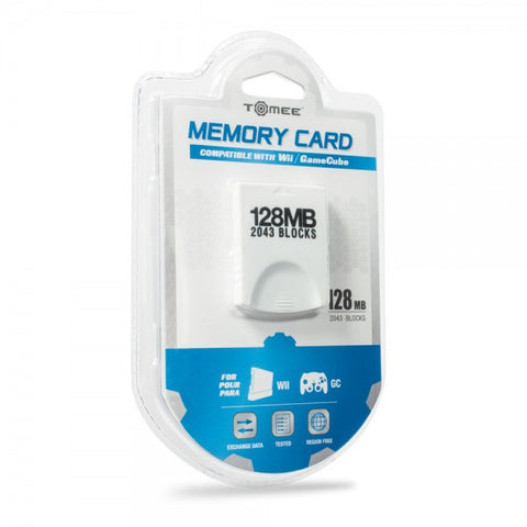 Gamecube Memory Card 128 MB 2043 Blocks Tomee New