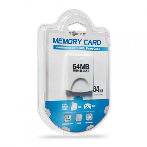 Gamecube Memory Card 64 MB 1019 Blocks Tomee New