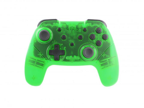 Switch Controller Wireless Nyko Core Clear Green New