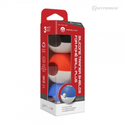 Switch Poke Ball Plus Silicone Trainer Shields 3 Pack Hyperkin New