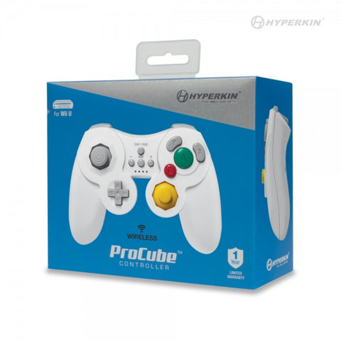 WiiU Controller Wireless Hyperkin ProCube White New