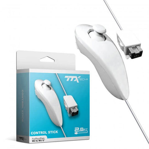 Wii Controller Nunchuck TTX Tech White New