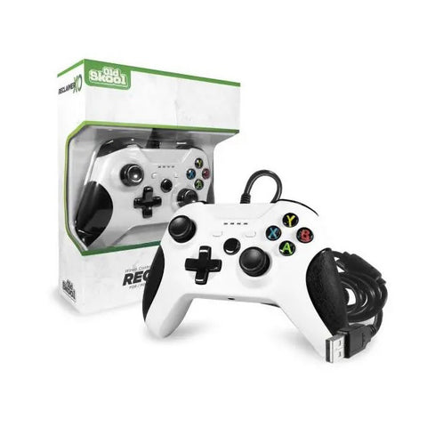 Xbox One Controller Wired Old Skool Reclaimer White New