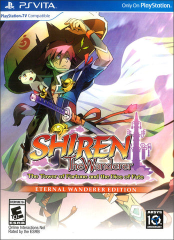 Shiren Wanderer The Tower Of Fortune And The Dice Of Fate Eternal Wanderer Edition PS Vita New