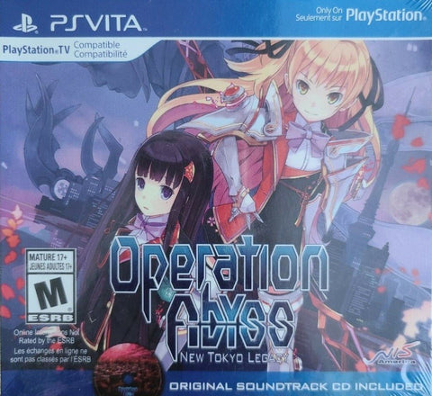 Operation Abyss New Tokyo Legacy Launch Edition PS Vita Used