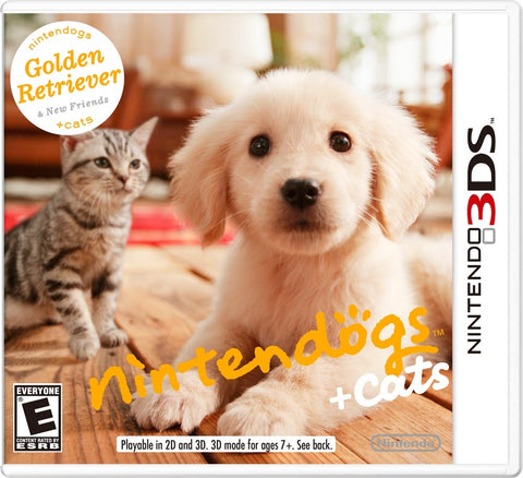 Nintendogs And Cats Golden Retriever 3DS Used Cartridge Only