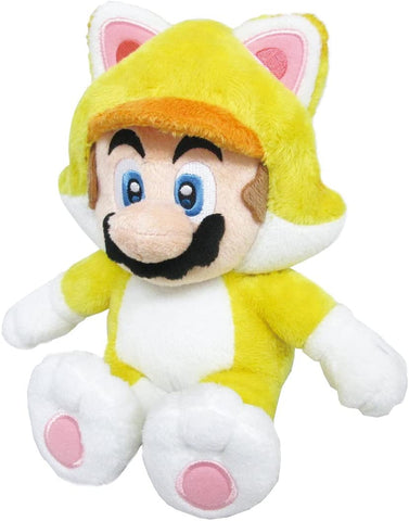 Super Mario 3D World Cat Mario 10 Inch Plush Little Buddy New