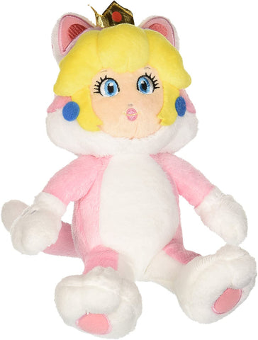Super Mario 3D World Cat Peach 10 Inch Plush Little Buddy New
