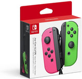 Switch Controller Wireless Nintendo Joy Con L R Neon Pink Neon Green Set New