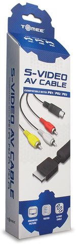 S Video AV Cable PS1 PS2 PS3 Tomee New