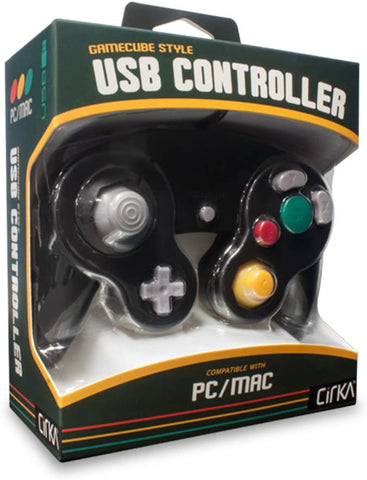 Gamecube Controller Wired USB Cirka Black New