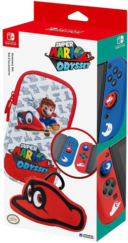 Switch Carry Case Hori Acessory Set Mario Odyssey New