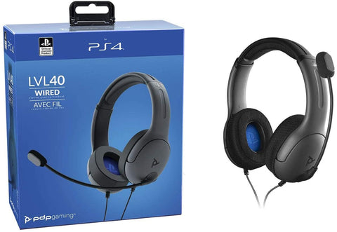 PS4 Headset Wired PDP LVL 40 Stereo New