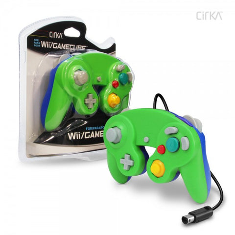 Gamecube Controller Wired Cirka Green Blue Luigi Colours New