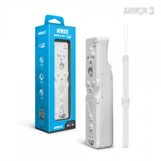 Wii Controller Wiimote Armor3 NuWave Nu+ White New