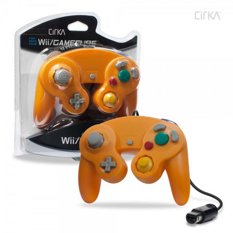 Gamecube Controller Wired Cirka Orange New