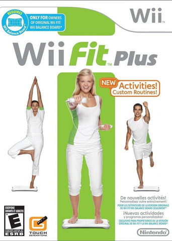 Wii Fit Plus Game Only Balance Board Required Wii Used