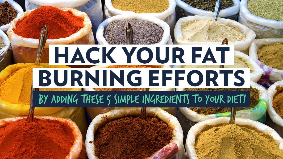Image of Bodyrock blog article - Hack Your Fat Burning Efforts By Adding These 5 Simple Ingredients To Your Diet!