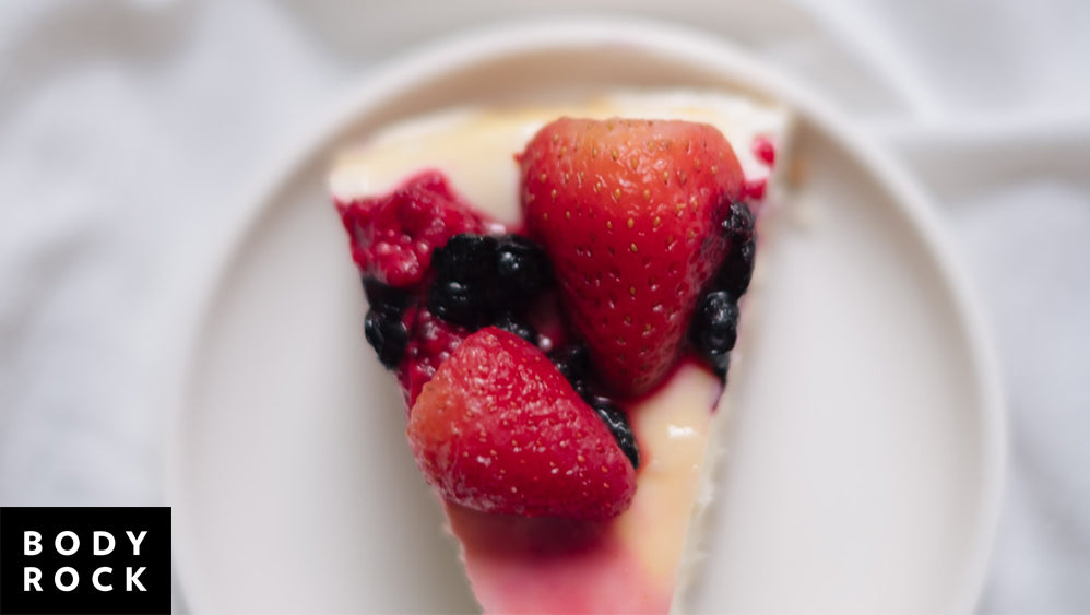 Delicious & Healthy Light Berry Cheesecake