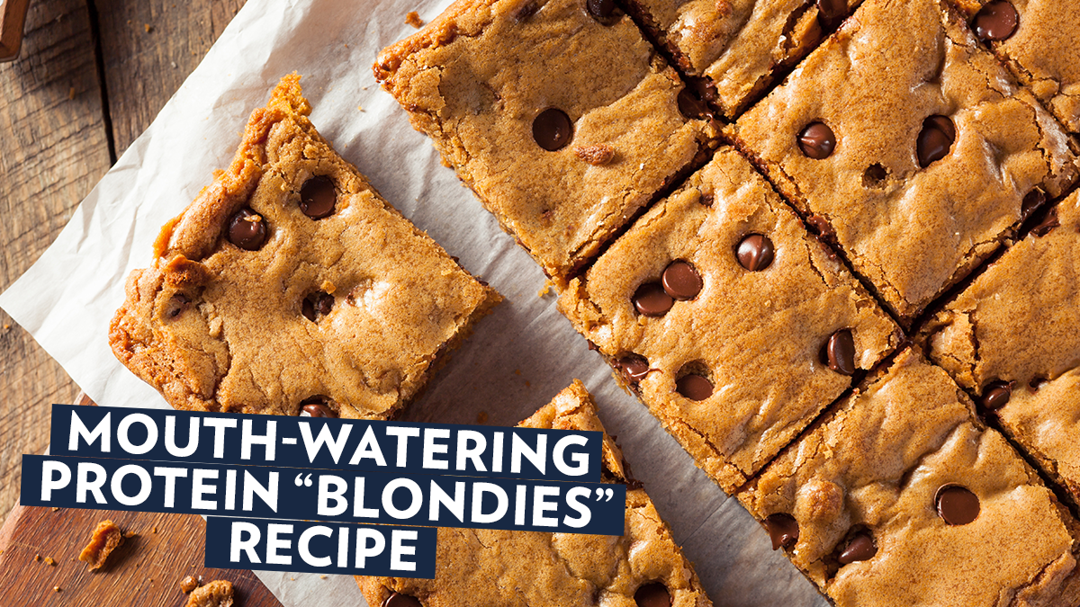 "Image of Bodyrock blog article - Mouth-Watering Protein ""Blondies"" Recipe"