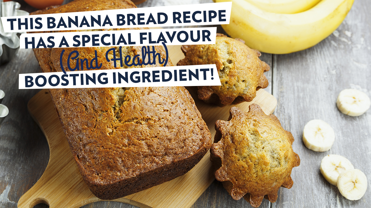 Image of Bodyrock blog article - This Banana Bread Recipe Has A Special Flavour (And Health) Boosting Ingredient!