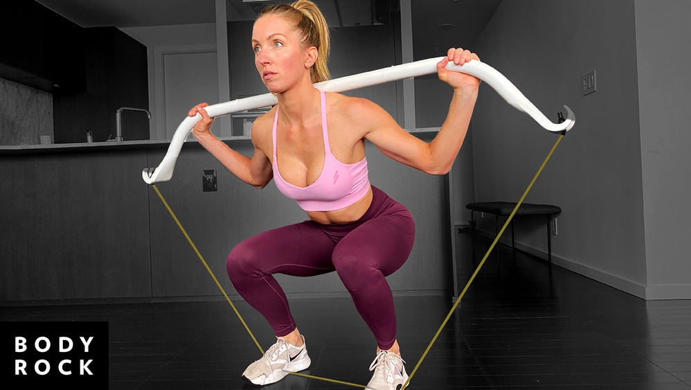 24-Minute Squat Bow Resistance Band Upper Body Workout