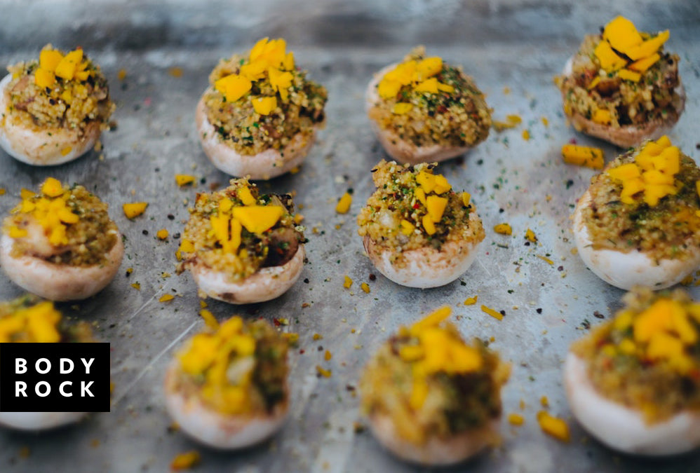 Healthy Holiday Eats: Chestnut Stuffed Mushroom Apps